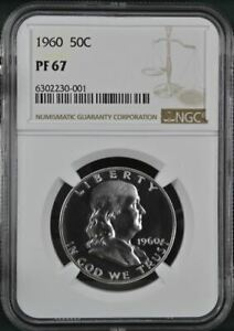 1960 Proof Franklin Half Dollar - NGC PF 67