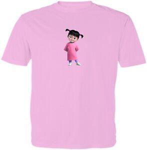 Monsters Inc Boo Kid Girl Boy Youth Unisex Crew Neck Short Sleeve Top T-Shirt