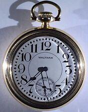 Waltham~Vanguard~Railroad~J BOS Swing Case~Pocket Watch~1907~Model 1892~18s~23j