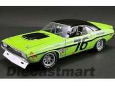 ACME 1:18 1970 Dodge Challenger Trans Am #76 Sam Posey A1806009 Green Diecast