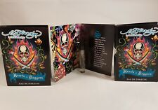 Ed Hardy by Christian Audigier Hearts & Daggers 1.52ml mens EDT mini spray x 3