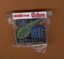 1999 SEC CHAMPIONSHIP GAME LAPEL PIN ALABAMA TIDE FLORIDA GATORS Unsold Stock