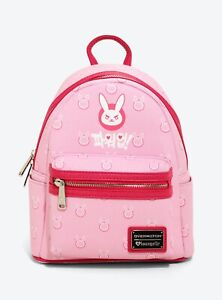 VERY RARE Deadstock Loungefly Overwatch D.Va DVA Pink Mini Backpack BL Exclusive