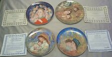 4 Edna Hibel Christmas China Plates in Orig Boxes Certificate Of Authenticity