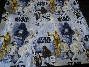Pottery Barn Kids Star Wars A New Hope Twin Flat Sheet Han Luke Leia Darth Vader