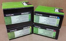 Original Lexmark Cartouche d'encre 802XKE 802XME 802XYE 802XCE 802XK 802XM 802XY
