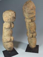 ARTE TRIBALE AFRICANA Coppia di figure precoce Dogon tellem