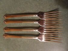 Oneida Damask Rose Flatware lot of 4 Stainless Dinner Forks Cube Mark