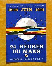 1974 Le Mans 24 hour Race Motorsport Sticker / Decal