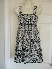 w Womens Size 8 White Black Grey Dress LADIES SMART SUMMER WORK EVENING