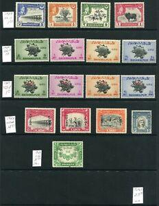 Weeda Bahawalpur #22/29, O11/O28 MH 1945-49 issue Commonwealth CV $23.00