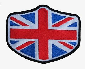 UNION JACK - Iron ON Embroidered Patch. Highest Quality. Easy Apply. Made in UK.