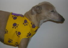 Yellow w Purple Paws HARNESS VEST ITALIAN GREYHOUND DACHSHUND CHINESE CRESTED