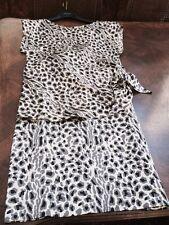 SALE LOOK Vintage 1970's Mollie Parnis 100% SILK Charmeuse 2 Pc Dress SIZE 4