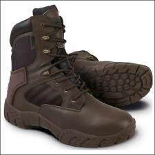 Kombat Tactical Pro Boot - Half Leather Half Nylon - Brown