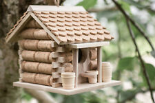 Wine Cork Bird House Nesting Box Garden Ornament Outdoor Cabin Tree Hanging Hut