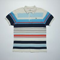 Lacoste Men's Multicoloured Short Sleeve Regular Fit Cotton Polo Shirt Size M