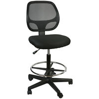 Office Chair Mesh Task Chair Comfort Adjustable Tall Drafting Stool Swive W/Foot