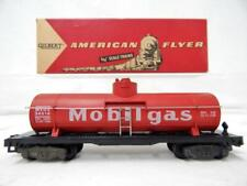 American Flyer 24316 Mobilgas Single Dome Tank Car Red C7 +Box S 1958-61 Knuckle
