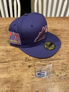 Hat Club Exclusive! Daybreakers Purple Rockies 25th Ann. Patch 7-5/8 - IN HAND!