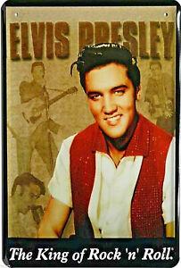 Elvis Presley Roi De Jupe N Rouler 11 CM X 8 CM Plaque Réplique Étain Signer