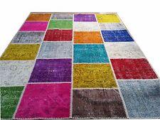 9 x 6  multicolor  vintage Overdyed Rug Handmade Turkish Patchwork Carpet rug