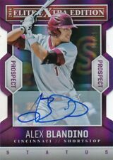ALEX BLANDINO 2014 ELITE EXTRA EDITION PURPLE DIE CUT AUTOGRAPHED CARD 10/75