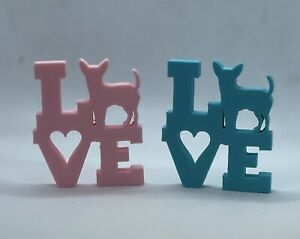 Chihuahua Lover 3d Printed Dog Love Ornament Range Of Colours Available