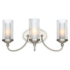 Lexington Series Satin Nickel 3 Light Wall and Bath Fixture #20-9557