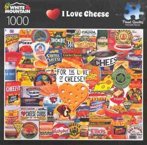 Charlie Girard White Mountain Jigsaw Puzzle 1000 Pc I Love Cheese NIB