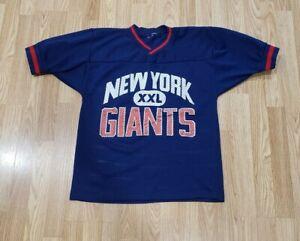 Vintage New York Giants NFL Football Blue Champion Shirt Jersey Sz S/M
