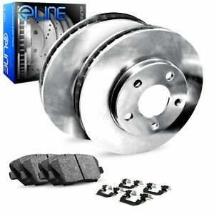 For 2009-2019 Fiat 500 Rear O.E Replacement Brake Rotors + Ceramic Pads