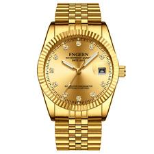 Men's Watch Relojes De Hombre Gold Stainless Steel Quartz Classic Small Dial
