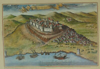 Castles of Greece Patra Patras Castle Fortress  Engraving Poster 34 x 49 cm # 7