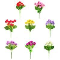 Silk Künstlich Daisy Gefälschte Blumen Blumenstrauß Zuhause Hochzeit Deko