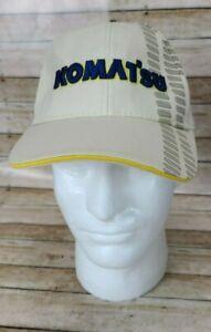 Komatsu Bulldozer with Tread Tracks Embroidered Adjustable Baseball Cap Hat