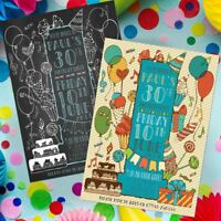 Quality Invitations Personalised Birthday Party Invites 18th 21st 30th 40th !