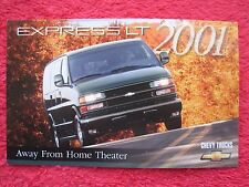 2001 CHEVY CHEVROLET EXPRESS LT VAN FACTORY FEATURES / INFO CARD