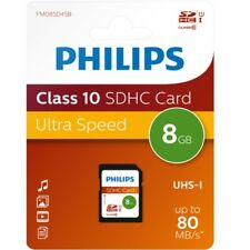 Philips 8 GB SD HC Ultra High Speed Memory Card, Class 10 for Cameras