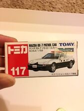 Tomy Takara Miniature Scale 1/59 MAZDA rx-7 Patrol Car with stickers rare