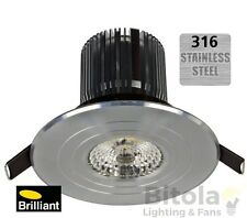 BRILLIANT LUXOR 316 MARINE GRADE STAINLESS STEEL 13W LED OUTDOOR DOWNLIGHT WARM