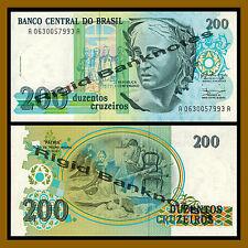 Brazil 200 Cruzeiros, ND 1990 P-229 Unc
