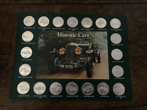 Shell 1970s Historic Cars Collectable Coins Complete Album GC