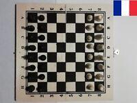 Mini Jeu d'échecs de Voyage en Bois 21x21cm Pliable + Pièces et Pions Inclus