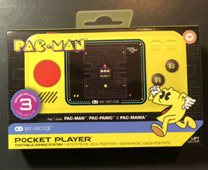 MyArcade Pac-Man Pocket Player Handheld [ 3 Games Installed ] NEW