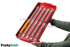 """110pc gran sistema del zócalo profundo rack con rieles Bandeja de 1/4 """"de 3/8"""" de 1/2 pulgada Clip Caja de herramientas de almacenamiento"""