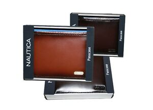 NAUTICA PASSCASE BILLFOLD MEN'S ID CREDIT CARD WALLET LEATHER COLORS# 6262