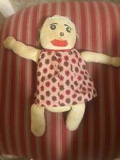 Old Antique Vtg 1900s Hand Made Cloth Sock Doll 11�