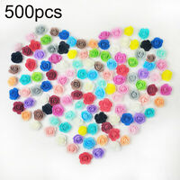 PM_ 500Pcs 3.5cm PE Foam Rose Artificial Flower for DIY Rose Teddy Bear Doll C