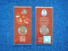 Russia, 25 rubles x 2 coins, Set, 2018 FIFA World Cup, Football, UNC, New